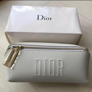 Dior - ディオール Dior ポーチ ホワイト ノベルティ 非売品 ロゴ チャーム 新品
