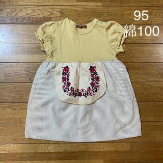 STUDIO MINI - 95 Studio mini パフスリーブワンピース Tシャツ