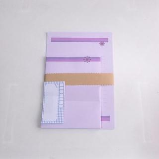 紫6~レターセット~(カード/レター/ラッピング)