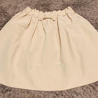 フランシュリッペ(franche lippee)のおりぼんスカート(ひざ丈スカート)