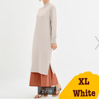 GU - 【GU・水通しのみ】ニットワンピース White XLサイズ