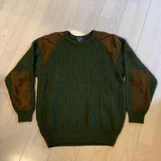 ラルフローレン(Ralph Lauren)のCHAPS RALPH LAUREN 肩肘切替ウールニット 90s(ニット/セーター)
