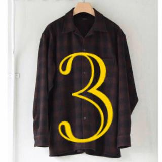 COMOLI - comoli ウールチェックシャツ size3