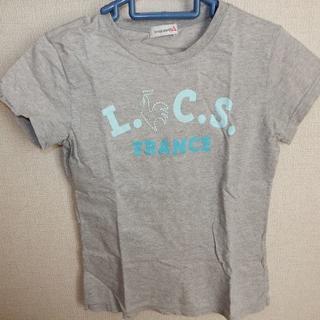 ルコックスポルティフ(le coq sportif)のle coq sportifルコックレディース Tシャツ グレーサイズM送料込(Tシャツ(半袖/袖なし))