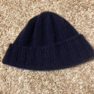 ビームス(BEAMS)のbeams カシミア100% ニット帽 ピーニー(ニット帽/ビーニー)