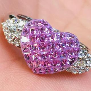 サファイヤ ピンクサファイヤ リング 指輪 K18(リング(指輪))