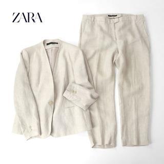 ZARA - 大きいサイズ◎ZARA ザラ リネンセットアップ/スーツ/ノーカラー