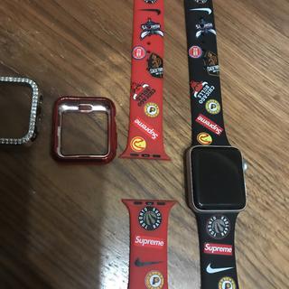 Apple - Apple Watch NIKE本体 S3 キラキラカバー コラボベルト