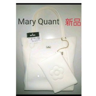 MARY QUANT - タグ付き Mary Quant ソフトシュリンクトート バッグ ポーチ付き