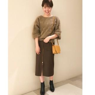 ノーブル(Noble)のT/Wダブルクロス フープジップタイトスカート(ひざ丈スカート)