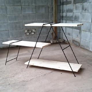 アイアンシェルフ キャンプアウトドアラック イベント 什器 観葉植物棚