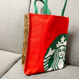 Starbucks Coffee - スタバ トート バッグ レッド