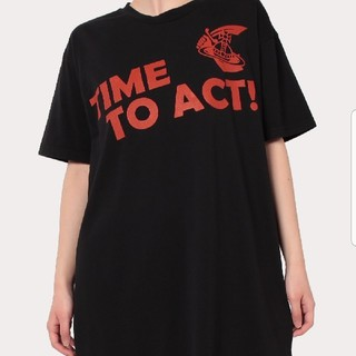 Vivienne Westwood - 新品・NEW BOXY T-SHIRT TIME TO ACT BLACK S