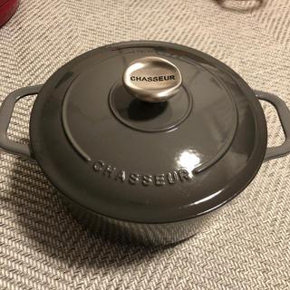 ルクルーゼ(LE CREUSET)の【シャスール】サブライムラウンドキャセロール20cmキャビア(鍋/フライパン)