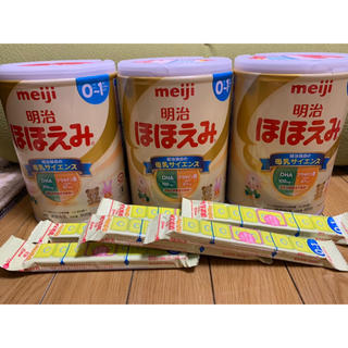 明治 - ほほえみ 3缶 きゅーぶ6袋