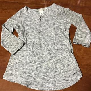 エイチアンドエム(H&M)の七分袖Tシャツ グレー(Tシャツ(長袖/七分))