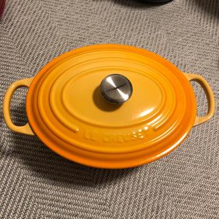 ルクルーゼ(LE CREUSET)の【ル・クルーゼ】ココットオーバル 25cm オレンジ(鍋/フライパン)