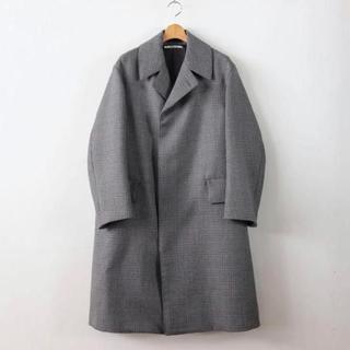 COMOLI - オーラリー  DOUBLE FACE CHECK LONG COAT コート
