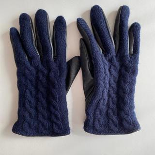 ナノユニバース(nano・universe)のナノユニバース*革コンビケーブルグローブ(手袋)