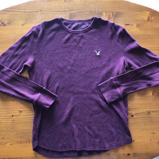 アメリカンイーグル(American Eagle)の美品‼︎ アメリカンイーグル ワインレッド色 長袖カットソー サイズM(Tシャツ/カットソー(七分/長袖))