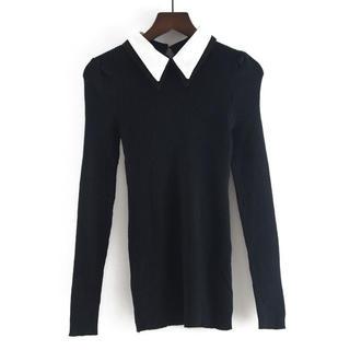 JILLSTUART - ショルダーパフスリーブ襟セーター