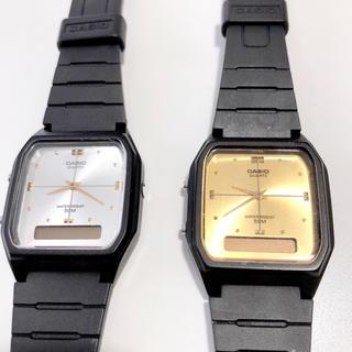 カシオ(CASIO)のCASIO  腕時計 AW-48HE series ゴールド シルバー(腕時計)