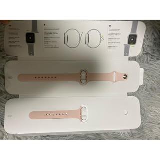 アップルウォッチ(Apple Watch)のApple Watch   40mmバンド ピンク s/m m/l(その他)