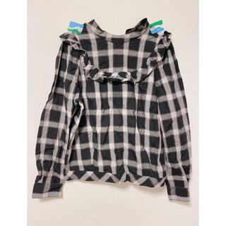 ドットアンドストライプスチャイルドウーマン(Dot&Stripes CHILDWOMAN)のクルーネックチェックシャツ(シャツ/ブラウス(長袖/七分))