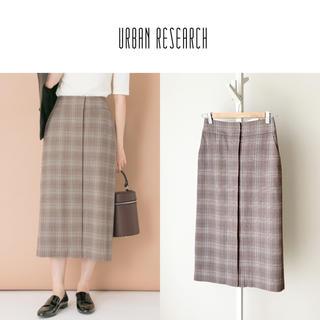 URBAN RESEARCH - URBAN RESEARCH グレンチェックタイトスカート ドアーズ ロッソ