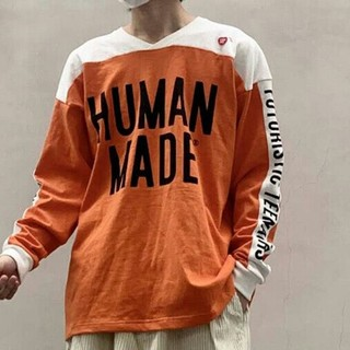 A BATHING APE - HUMAN MADE 20SS オレンジ  長袖の L