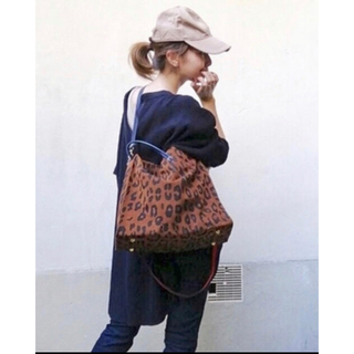 L'Appartement DEUXIEME CLASSE - CLARE V. クレア ヴィヴィエSuede Leopard ToteBag