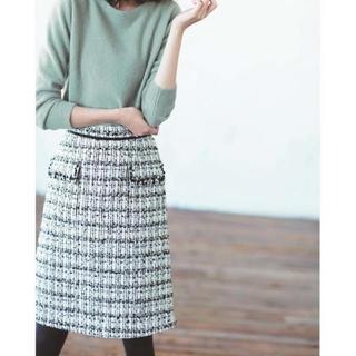 アプワイザーリッシェ(Apuweiser-riche)のapu♡ビジューフラップタイトスカート(ひざ丈スカート)