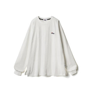 グレイル(GRL)のFILA ビッグロンT ホワイト 白 人気 カジュアル ロゴT 長袖 新品(Tシャツ(長袖/七分))