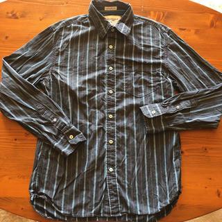 アメリカンイーグル(American Eagle)の美品‼︎ アメリカンイーグル 青系ストライプシャツ サイズM(シャツ)