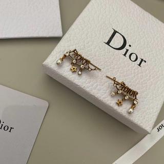 ディオール(Dior)のキラキラ☀︎アルファベット ピアス 1点のみ(ピアス)