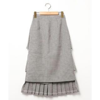 エンフォルド(ENFOLD)のCLANE ダブルフェイスプリーツスカート(ロングスカート)