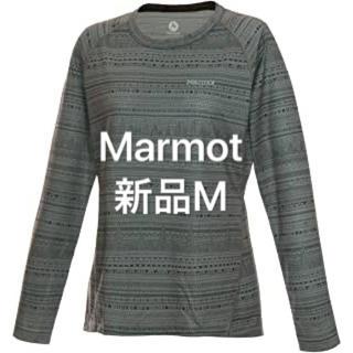 マーモット(MARMOT)の新品M  マーモット WSBRESHニットエスニック 長袖下着インナーシャツ(登山用品)