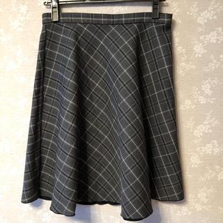 Rope' Picnic - 黒とグレーチェックのリバーシブルスカート
