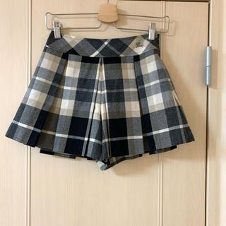 バーバリーブルーレーベル(BURBERRY BLUE LABEL)のBURBERRY キュロット スカート ショートパンツ(キュロット)