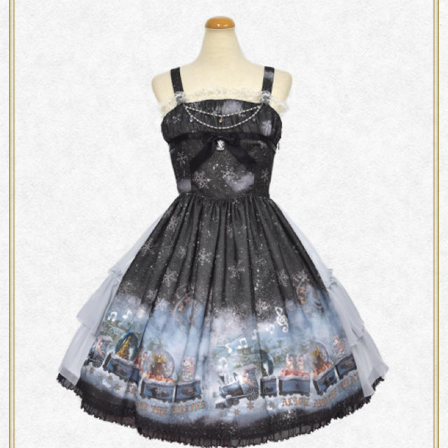 ALICE and the PIRATES(アリスアンドザパイレーツ)のスノードームトレイン セット レディースのスカート(ひざ丈スカート)の商品写真