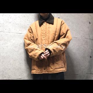 コーデュロイ 襟 中綿 ダックジャケット カバーオール ハンティングジャケット(カバーオール)