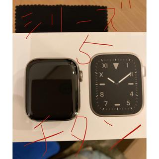 アップルウォッチ(Apple Watch)のApple Watch シリーズ 5 チタニウム シルバー40mm 美品(その他)