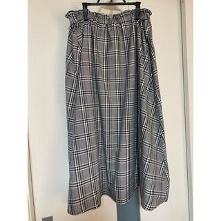 しまむら - 大きいサイズ チェック柄 スカート 3L