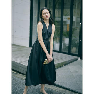 アメリヴィンテージ(Ameri VINTAGE)のAmeri vintage LADY TUCK FLARE DRESS (ロングドレス)
