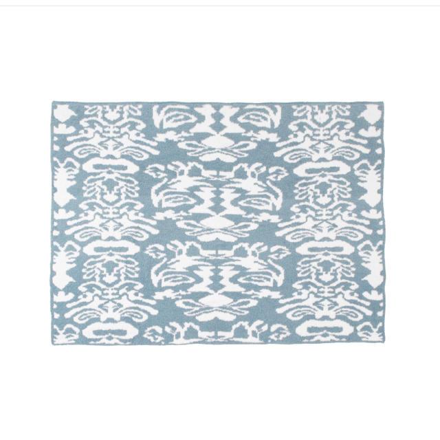 kashwere(カシウエア)の新品 カシウェア ブランケット ダマスク柄 インテリア/住まい/日用品の寝具(毛布)の商品写真