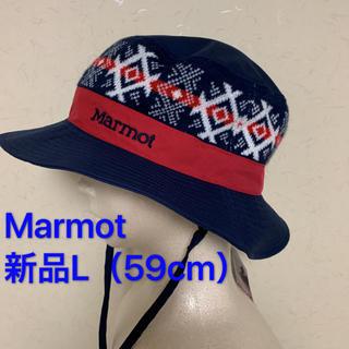 マーモット(MARMOT)の新品L(59cm)マーモット トレッキング 帽子 NORDIC HAT(登山用品)