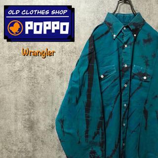 ラングラー(Wrangler)のラングラー☆タイダイ染めフラップ付きダブルポケットウエスタンシャツ 90s(シャツ)