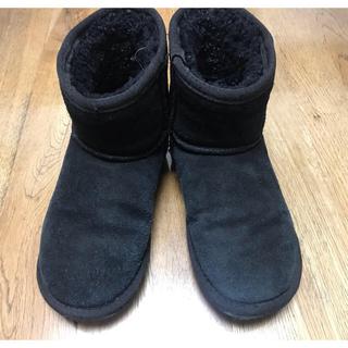 エミュー(EMU)のemu 黒ムートンブーツ19cm(ブーツ)