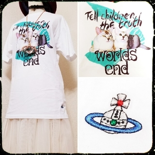 Vivienne Westwood - 新品・BOXY T-SHIRT Cat Print White