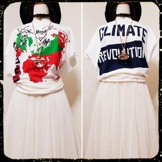 Vivienne Westwood - 新品・Worlds end限定・CR Square Tshirt(white)